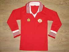 RARE MANCHESTER UNITED 1975-80 HOME SHIRT ADMIRAL LONG SLEEVE SIZE BOYS