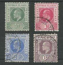 CAYMAN ISLANDS SG8-11 THE 1905 EVII SET TO 6d SUPERB USED CAT £106.50
