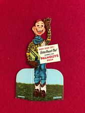 """1951, Howdy Doody, """"Un-Used"""" PALMOLIVE SOAP Advertising Stand (Scarce)"""