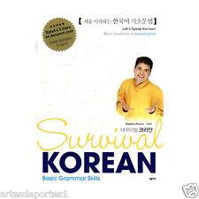 Survival Korean Basic Grammar Skills Book K-Pop By Stephen Revere New Edition CD