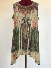 Style & Jean Cool women's tunic top sleeveless women's XL colorful loose studded