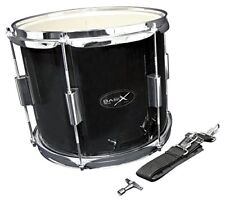 Marching Drum 12 x 10 inch black with carrying strap
