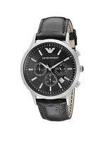 New Emporio Armani Classic Black Chronograph Dial AR2447 Leather Men's Watch