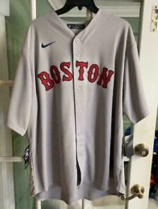 Nike 2020 Boston Red Sox Away Jersey Mookie Betts Gray Rare T770-BQG3 Size XXL