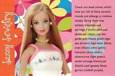 """ Bead Jewelry "" -- Fashion Collectible Photo Card Mattel - Barbie Doll Postcard"