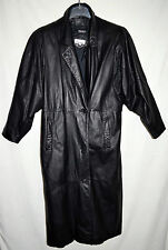Lerner Black Soft Leather Womens Raglan Sleeves Coat with Thinsulate Liner Sz M
