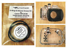 O-RING & SILICONE GRASSO KIT PER CANON WP-DC48 Immersione Subacquea Case Custodia