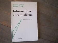 Manuel JANCO & Daniel FURJOT: informatique  et capitalisme. Maspero