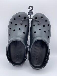 Crocs Coast Clog Unisex Black Men's Size 10 Women's Size 12 New