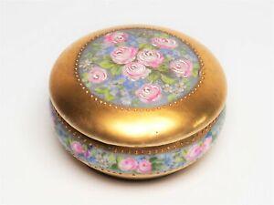 Roses d´amour - Kleine Dose Rosendekor & Gold Nr. 039 Limoges? Frankreich