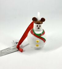 Disney's Mickey Mouse Snowman Marshmallow Treat Christmas Tree Ornament Bnwt