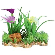 Trixie Plastic Plants in Gravel Bed Aquarium Fish Tank Decoration Ornament, 13cm