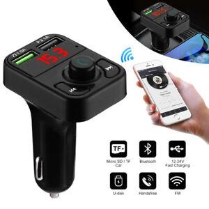 FM Transmitter Auto Bluetooth KFZ MP3 Radio Adapter mit USB Ladegerät für Handy