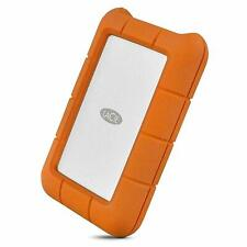 LaCie STFR5000800 Rugged USB-C 5TB External Hard Drive - Orange/Silver