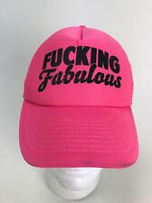F*cking Fabulous Pink Women's Rights Gay Pride SnapBack Trucker Hat Cap Rare