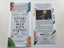 2x Flyer SUNDAY IN THE PARK WITH GEORGE 2020 Savoy Theatre