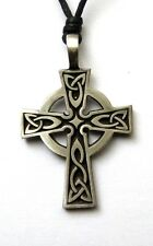 **BEAUTIFUL SOLID PEWTER CELTIC CROSS - ST. PETROC - PENDANT / NECKLACE**