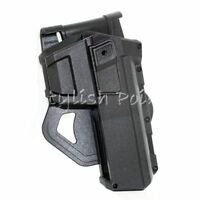 Airsoft Polymer Hard Case Movable Holster For APS ACP601 TM WE G17 G18C G19 BK