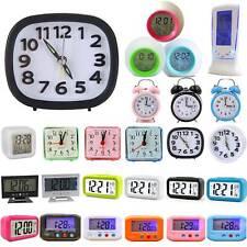 Quartz Travel Alarm Mini Clock Night Light Digital Bedside Desk Home Snooze Gift