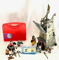 Playmobil Knights Lot Carrying Case 5890 Battle Attack Tower 4441