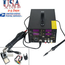 4In1 Rework Soldering Station Hot Heat Air Gun USB Phone Power Supply 800W 909D+