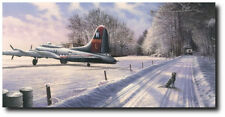 FORTRESS AT REST by Richard Taylor - B-17G Flying Fortress - Aviation Art Print