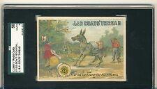 1880'S TRADE CARD , EF DIS DON'T FETCH YOU, J & P COAT'S THREAD, SGC 50