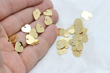 50Pcs   Gold Plated Heart, Heart Pendant, Heart Charms, Heart  BRT118