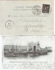5) 1900 World Exhibition during Olympic Games card cancel Paris Expo.INVALIDES