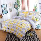 Single Queen King Size Bed Set Pillowcase Quilt Duvet Cover Pear Cute Pig L