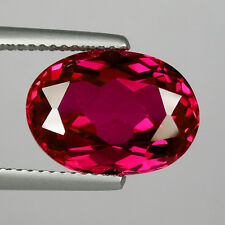 IF 8 cts Huge Oval (14x10 mm) Lab Corundum Pigeon Blood Red Ruby A55