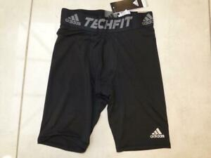 "New Adidas black compression techfit base layer 9"" shorts bottoms. Size XL"