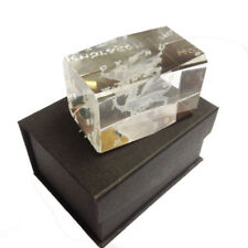 Crystal Glass Paperweight Etched