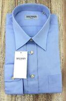 Balmain Mens New Blue Striped Long Sleeve Shirt 18 45