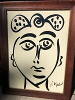 Peter Keil Original  Miro Picasso Black 1972 Modernism Neo Expressionism COA