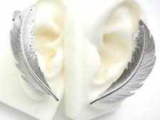 "New Leaf Ear Cuffs Set Earrings Silver Plated 1.5"" Pair"