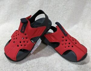 Nike Sunray Protect 2 (TD) Red/Anthracite Toddler Boy's Sandals - Size 8C NWB