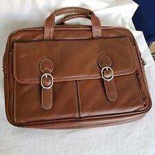 Mcklein Brown Leather Dual Handle Unisex New Briefcase