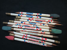 vintage famous Wonder Bread 13 wooden pencils all used skinny size