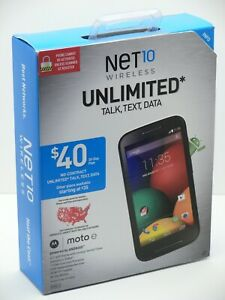 FACTORY SEALED BOX Black MOTOROLA Moto e (XT830C) NET 10 PREPAID 2ND GEN 4GB NEW