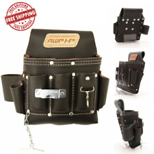 NEW Durable Leather AWP 113-cu in Construction Tool Belt Pocket Pouch Bag Holder