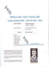 "JOHN CHARLES LEEDS UNITED 1948-57 & 1962-63 RARE SIGNED ""HOTSPUR"" FOOTBALL CARD"