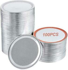 Wide Mouth Canning Lids 86MM Mason Jar Canning Lids for Ball Kerr Jar 100 Pieces