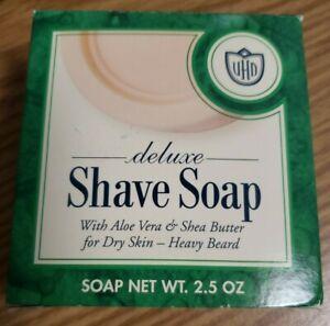 VAN DER HAGEN DELUXE SHAVE SOAP w/ALOE VERA & SHEA BUTTER FOR DRY SKIN 2.5 oz