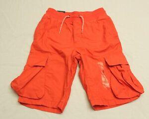 Gap Kids Boy's Drawstring Pull-On Cargo Shorts MP7 Spring Coral Size XL (12) NWT