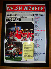 Wales 30 England 3 - 2013 Six Nations - framed print