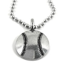 Baseball Necklace Silver  (base)