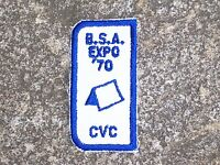 BSA Boy Scout Expo 1970 CVC Patch Boy Scout Patch Vintage