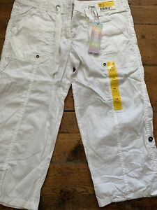 DENIM CO White Crop Cropped Jeans Size 14 BNWT