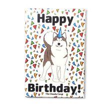 Alaskan Malamute Dog Confetti Magnet Happy Birthday Celebration Gifts Home Decor